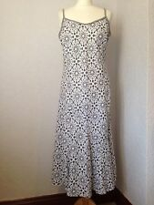 Per Una grey & white linen spotted/polka dot dress 14
