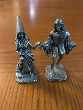 Lancelot & Guinevere Pewter Statues, Handmade Excellent Condition