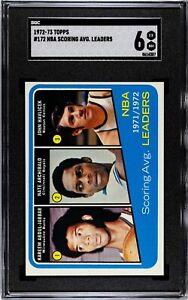1972 Topps Basketball #172 NBA Scoring Average Leaders (Jabbar) SGC 6 EX/NM
