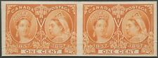 CANADA #51P4 PLATE PROOF ON CARD HORIZONTAL PAIR BS6433