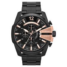 DIESEL Uhr DZ4309 MEGA CHIEF Herren Chronograph Edelstahl Schwarz Armbanduhr NEU