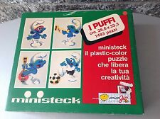 Vintage Ministeck Smurfs Childrens 80S I Puffi Nib Puzzle