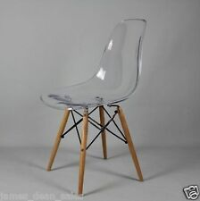 Transparent Chair Retro Clear  Modern Seat Dining Living Room Style Office Retro