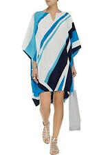 ISSA LONDON MILEY PONCHO / KAFTAN – SEA BLUE