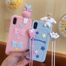 3D Doll KAWAII Hello Kitty Melody Silicone Case Cover For iPhone 7 8Plus 6s Plus