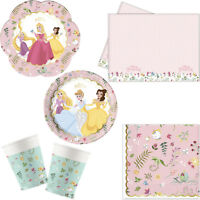 Disney Princess Deluxe Birthday Party Tableware Tablecover Napkins Plates Cups