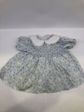 American Girl Pleasant Company Bitty Baby 1997 Easter Bunny Light Blue Dress