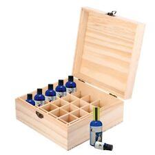 25 Slot Essential Oil Roller Bottle Wooden Storage Box Aromatherapy Organizer UK