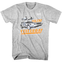 Back to The Future See You Yesterday Time Machine Men's T Shirt DMC Delorean Car