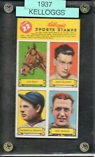1937 Kelloggs Football Stamps Red Grange-Illinois- Complete Sheet of 4