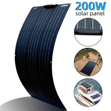 200W Solar Panel Cell Flexible Module Kit Waterproof for 12V/24V RV/Car/Boat New