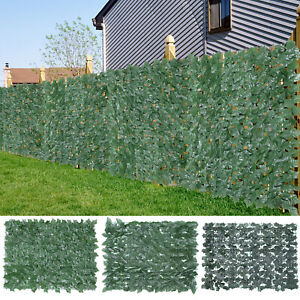 """118''x39"""" Privacy Artificial Fence Screen Faux Ivy Leaf Privacy Screen Hedge"""