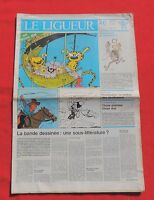 Tintin dans la Presse. LE LIGUEUR 1984 - La bande dessinée sous-littérature ?
