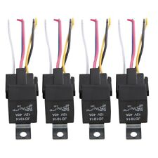 5 Pack 12V 30/40 Amp 5-Pin SPDT Automotive Relay with Wires & Harness Socket