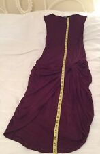 """Lipsy  Bodycon Dress Size 10. Deep Magenta. Washable 28"""" Chest. 44"""" Long. Jersey"""