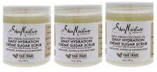 (3)Shea Moisture 100% Virgin Coconut Oil Daily Hydration Creme Sugar Scrub 16OZ.