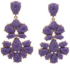NWT Amrita Singh Real Housewives Crystal Nello Star Lilac Earrings ERC 202