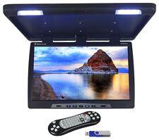 "Rockville RVM24FD-BK 24"" TFT Black Flip Down Car Monitor w/ USB/SD/Video Games"