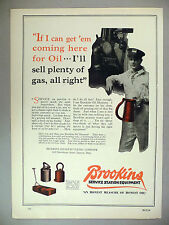 Brookins Service Station Equipment PRINT AD - 1929 ~~ motor oil