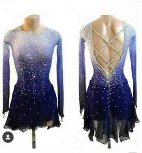 lce Skating Dress Purple Girls Competition Figure Skating Dresses Costume B011