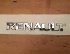 RENAULT LETTERS TAILGATE BADGE CHROME REAR BOOT 143x17mm CLIO MEGANE SCENIC ZOE