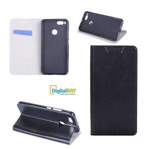 Custodia Cover Horizontal Flip Case Libro Eco Pelle Nero Xiaomi Mi A1