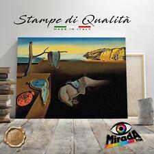 QUADRO Salvador Dalí La Persistenza della Memoria STAMPA TELA CANVAS ora tempo