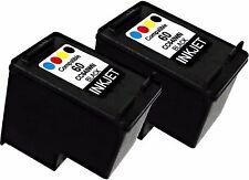 2PK FOR HP60 HP 60 CC640WN Black Deskjet F5560 F4283 F4288 F4292 F4293 F4400