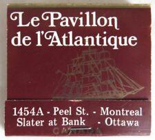 VINTAGE LE PAVILLON DE L'ANTIQUE SEAFOOD UNUSED MATCHBOOK            (INV14554)