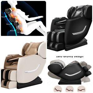 Electric Full Body Shiatsu Massage Chair Recliner Zero Gravity w/Heat 3 yrs WTY