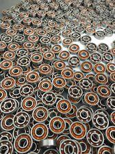 Wholesale Lot 100 Skateboard Open Steel Ball Bearing 608 w/Light Plastic Cage