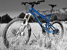 ART PRINT POSTER SPORT PHOTO MOUNTAIN BIKE BICYCLE BLUE NOFL0446