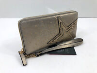 Vince Camuto Taz Wallet Wristlet STAR Studs Deep Champagne Leather NWT $118