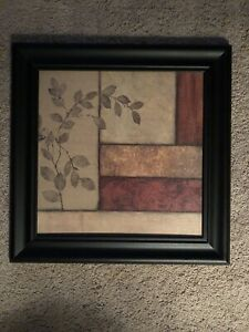 "12""x12"" AUTUMN BRANCH I by NORM OLSON COLLAGE OF COLORS PATTERNS CANVAS FRAMED"
