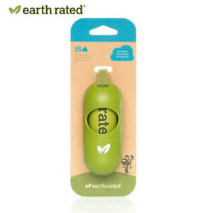Earth Rated-New Leash Dispenser for Dog Waste Bags 15 Poop Bags Unscented