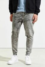 NWT $59 Urban Outfitters Grunge Acid Wash Jogger Sweatpants in Black sz L