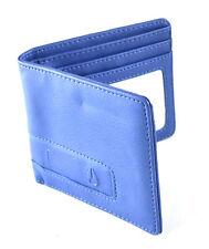 Nixon Showdown Blue Leather BiFold Wallet Coin Pocket Card Pocket Logo
