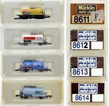 MARKLIN Z SCALE 4 Assorted 2-Axle Tank Cars  C8 Marklin Boxes