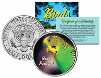 GREEN PARAKEET BIRD JFK Kennedy Half Dollar US Colorized Coin
