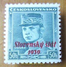 """EBS Slovakia 1939 """"Slovenský štát / 1939"""" 50 haleru overprint Michel 9 MNH**"""