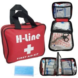 208 PIECE FIRST AID KIT MEDICAL EMERGENCY TRAVEL HOME CAR TAXI WORK 1ST AID BAG