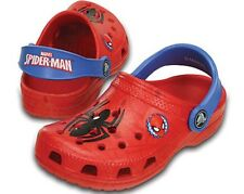 NEW Kids Girl's Boy's Marvel Spiderman Crocs Classic Clogs Youth Size 3 Red