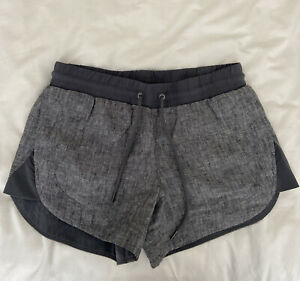 Athleta Womens Gray Bali Linen Shorts Beachside Size 2 NWOT
