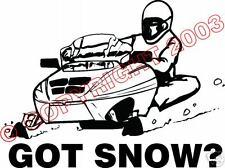 Arctic Cat Polaris Yamaha GOT SNOW Snowmobile STICKER