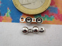 2 COPRINODO MEDI IN ARGENTO 925 RODIATI MADE IN ITALY MISURE 12X4 MM