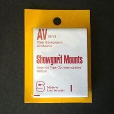 Showgard Stamp Mounts Size AV 31/41 CLEAR Background Pack of 40