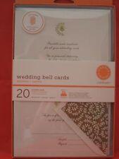 NEW Martha Stewart Wedding Bell Printable Cards Invitation Gold Ivory Elegant