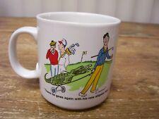 Golf Golfing Coffee Mug Cup Alligator Bag Al Konetzni Cartoon