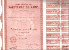 OBLIGATIONS LOAN BOND ACTION PAPETERIES DE PARIS 2000 FRS