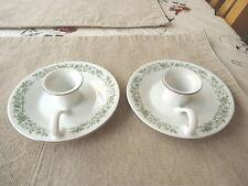 "Vintage Set Of 2 Mikasa Fine China Ceramic Candle Holder Saucers "" RARE BEAUTYS"